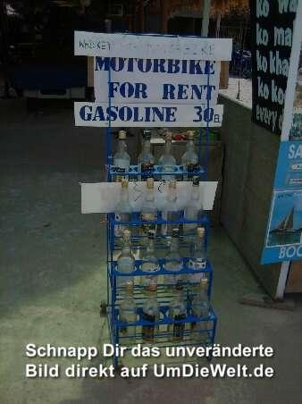 Die Preise für das Benzin für das Datum