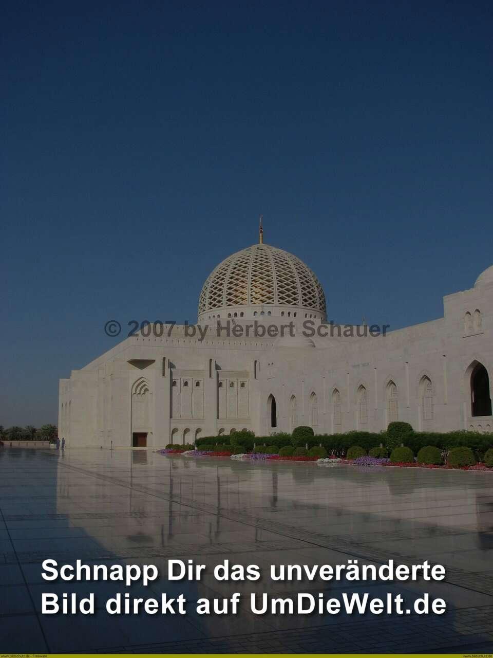 OmanReisebericht  Wadi Bowshar  Quaboos Moschee  nach