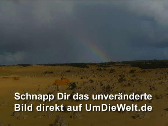 Pinnacles under the Rainbow