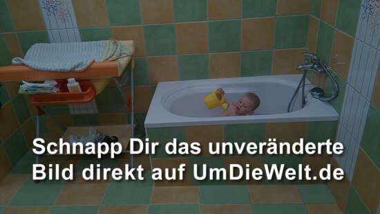 Badespass in der Wanne