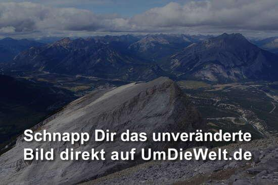Gipfel Blick ins Bowvalley