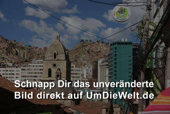 Chaotische und exotische Stadt: La Paz.