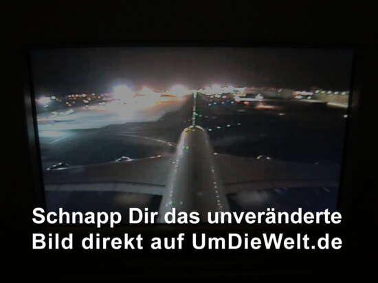 Flugzeug vom Leitwerk aus gesehen