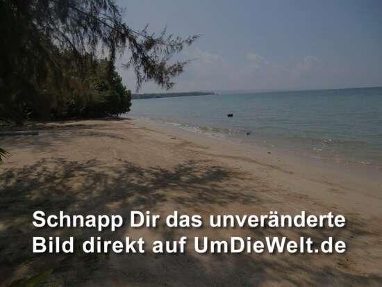 der Strand am Resort, den wir nicht betreten