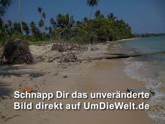 verdreckter Strand