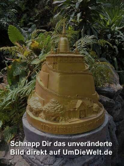 Miniatur vom Golden Mount im unteren Bereich des Aufstieges
