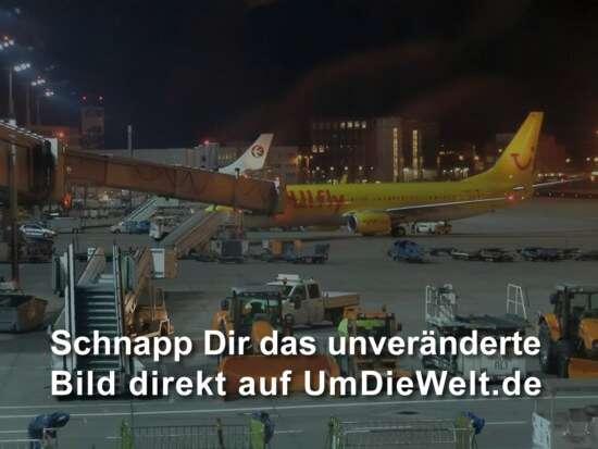 Flughafen Frankfurt am Morgen