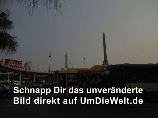Victory Monument im Hintergund