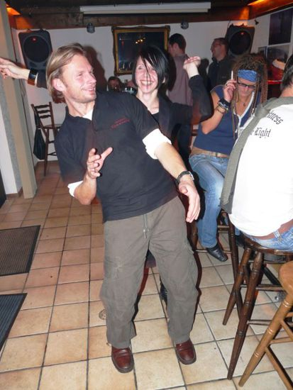 Dancing king (Uli) und queen (Jojo)!